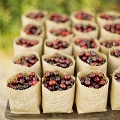 Favors that your guests will actually want to take home!  Love all of these!!!