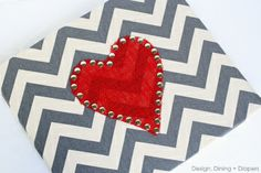 DIY Valentine's Day Canvas Art – http://designdininganddiapers.com/2013/01/valentines-day-faux-canvas-art/