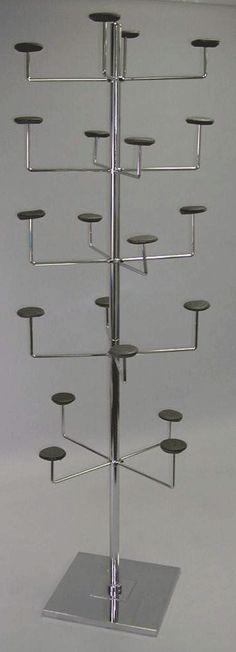hat display 5 tier single upright 15