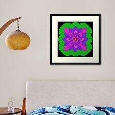 """Mandala Lotus Flower "" Framed Art Print by Pultzar   Redbubble"