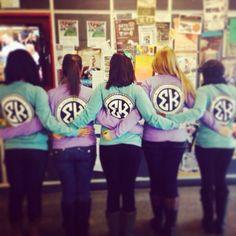 Sigma Kappa circle monogram comfort colors shirts :) Theta Mu chapter!