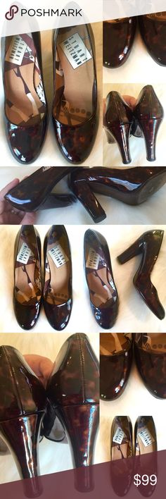 STUART WEITZMAN 💗 Tortoise Shell Patent Heels 6.5 Beautiful pre-loved STUART WEITZMAN heels!  Original price is an estimation.  Thicker heel for added comfort!  Inside of shoe from toe to heel measures 9.5 inches (Size 6.5).  Some wear/tear to heels, but overall in great shape and a color and shine that showcases the beauty of these heels!  💗💕💗💕 Stuart Weitzman Shoes Heels