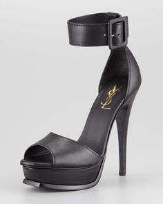 cheap low shipping pay with visa cheap price Saint Laurent Platform Ankle Strap Sandals outlet store with credit card free shipping big discount cheap price kd9Uio6Jm