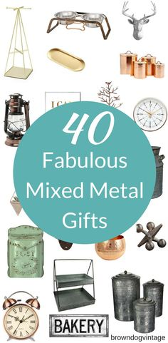 Mixed metals are hot right now for gift giving!  40 fabulous mixed metal gifts in one guide!