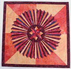 Medaillon Quilt, ca. 80x80
