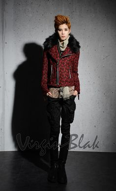 And another cool biker jacket from VirginBlak -  Leopard Print <3