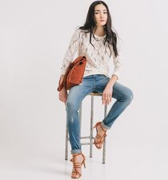 Slim-leg jeans medium denim - Promod