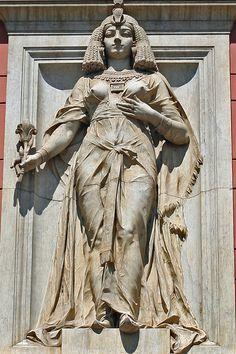 Cleópatra no museu egípcio da dinastia ptolomaica grega no Egito.