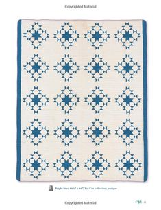 Patches of Blue: 17 Quilt Patterns and a Gallery of Inspiring Antique Quilts Two Color Quilts, White Quilts, Antique Quilts, Quilt Patterns, Indigo, Patches, Blue And White, Rugs, Amazon