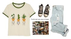 """2819."" by a-colette ❤ liked on Polyvore featuring Monki and Converse"