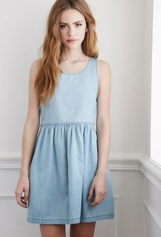 Denim Babydoll Dress | Forever 21 -for summer :)