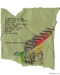 Typewriter Series #1524 by Tyler Knott Gregson Chasers of the Light & All The Words Are Yours are Out Now!