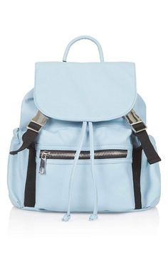 Topshop Sporty Faux Leather Backpack available at #Nordstrom