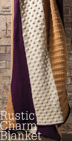 Rustic Charm Blanket from the Autumn 2017 issue of Crochet! Magazine. Order a digital copy here: https://www.anniescatalog.com/detail.html?prod_id=137323.