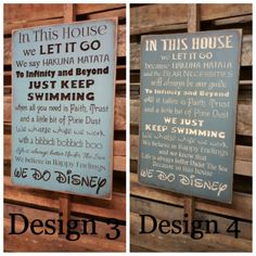 Custom Carved Wooden Sign WE DO DISNEY In This by HayleesCloset