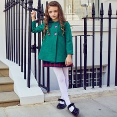 Young Girl Fashion, Kids Fashion, Childrens Coats, White Tights, Luxury Girl, Tights Outfit, Fashion Lookbook, Girls Wear, Girl Outfits