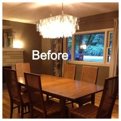 """Mid-Century dining room """"before"""""""