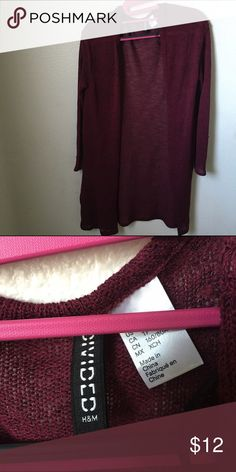 Burgundy h&m cardigan ! (: Never used only took the tag off because I thought I was going to I use it H&M Jackets & Coats