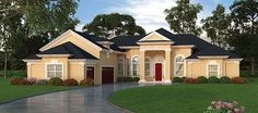 European House Plan with 2851 Square Feet and 3 Bedrooms from Dream Home Source | House Plan Code DHSW076955