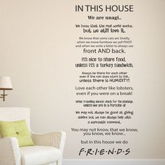 WE DO FRIENDS - Wall sticker quote SIZES Small: 100cm high x 50cm wide (40 inches high by 20 inches wide) OR Large: 140cm high x 58cm wide (55