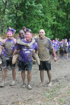Roy Davis competes in mud stash