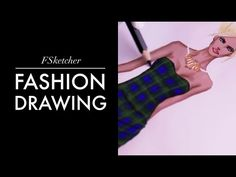 TARTAN PATTERN DRESS | Fashion Drawing - YouTube