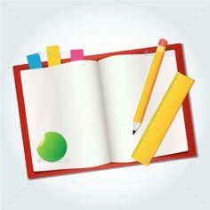 Blank Book Icon Pen Measure