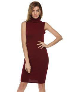 Cowl Neck Sleeveless Bodycon Dress #bodycondresscasual