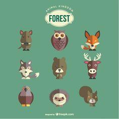 Animais da floresta definidos