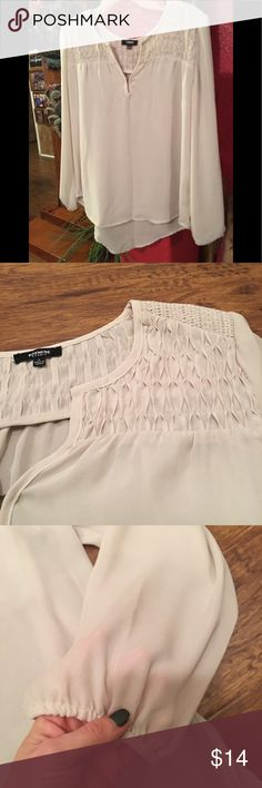 Amazing blouse Wonderful detail and beautiful sheer blouse. Excellent condition! Tops Blouses