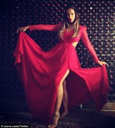 Leona Lewis becomes a lady in red in Ariella Couture dress for intimate gig in London nightclub as she prepares for return to the charts. London Nightclubs, Kimberley Walsh, Nicola Roberts, Cheryl Fernandez Versini, Leona Lewis, Woman Wine, Prom Dresses, Formal Dresses, Couture Dresses