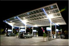 """LOS ANGELES, CA (April 27, 2012) –Florian Solar announces United Oil Company has selected its unique solar canopy to help provide power to the store and its pumps for their new """"Rapid 84"""" gas station in Cerritos, California. 49.1-kilowatt solar system (44.1-kilowatts AC) that will provide the station with an estimated 72,663-kilowatt hours per year. The solar canopy is expected to provide about 75% of the station's annual energy needs."""