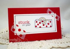 Stuck on you card by Tricia Traxler   Around the House Stamp Set   Newton's Nook Designs