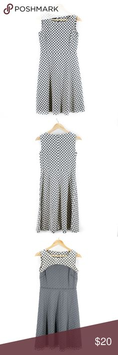 Talbots Size Small Gray/Cream Polka Dot Dress Brand: Talbots Style: Dress Size: Small US Material: 58% Polyester / 39% Cotton / 3% Spandex Care: Machine wash cold Condition: Excellent Talbots Dresses