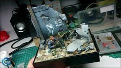 "Painting ""Rifleman Jess"" (SBS) | Coloured Dust"