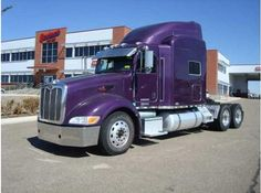 Purple Peterbilt truck