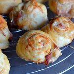 Petits choux feuilletés bacon fromage