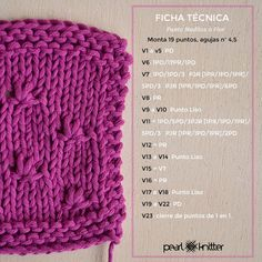 Mejores 1056 Imagenes De Puntos En Pinterest Knitting Patterns