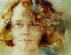 Lelie Abadie    watercolor love the bckgrd