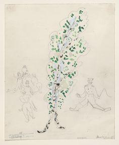 Marc Chagall. A Birch Tree, costume design for Aleko (Scene III). (1942)