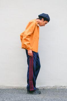 Needles /Track Pant - Poly Smooth(ニードルス / トラックパンツ) - LANTIKI… Hats For Men, Hat Men, Japanese Outfits, Pants Outfit, Fasion, Rain Jacket, Windbreaker, Mens Fashion, Guys