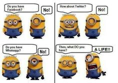 Minions Social Network, Life!   。◕‿◕。 See my Despicable Me  Minions pins https://www.pinterest.com/search/my_pins/?q=minions