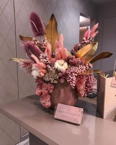 Beautiful Bouquet Of Flowers, Dried Flower Bouquet, Dried Flowers, Beautiful Flowers, Luxury Flowers, Exotic Flowers, Faux Flowers, Dried Flower Arrangements, Beautiful Flower Arrangements