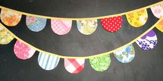 Party Bunting  Vintage Fabric Bunting Banner  by tinamagee on Etsy, $27.50