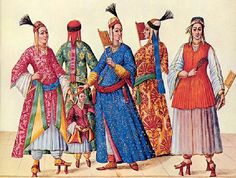 later 16th century ottoman empire - this is the time period that I've very nearly settled on for my persona (I'm so indecisive!) And oh my the colors; we will all go blind!