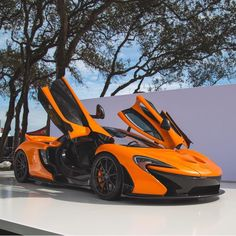 McLaren P1 painted in Papaya Spark w/ exposed Carbon Fiber Photo taken by: @tshenphotography on Instagram