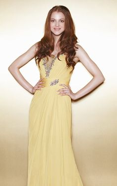 Astra Formal - Enzoani 1332 One Shoulder, Gowns, Yellow, Formal Dresses, Shape, Fashion, Vestidos, Dresses For Formal, Moda