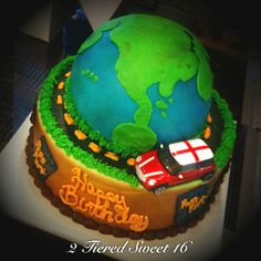 Sweet 16 travel cake - www.twentyonecakes.com