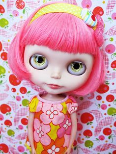 so cute #Blythe doll #pink #cute