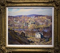 Jacob Greenleaf (1887-1968)  Along the River oil on canvas signed  20 x 24 in., excellent